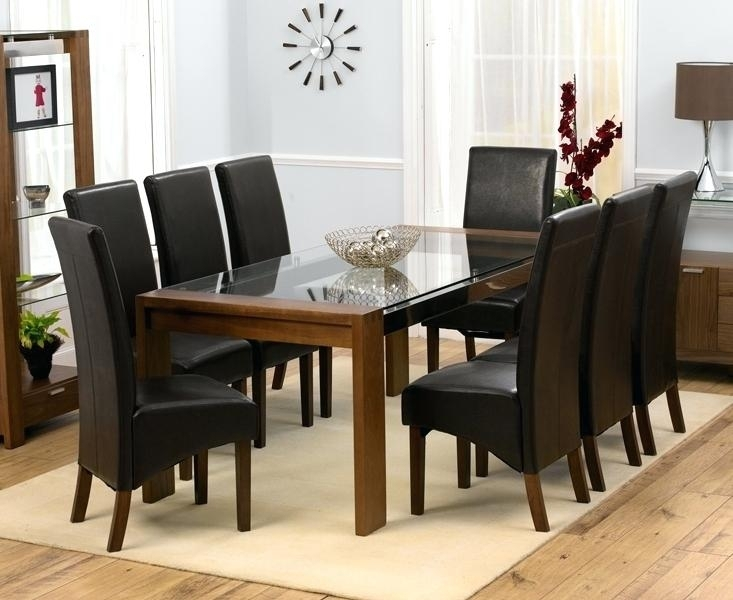 Dining Table And 8 Chairs 8 Seat Dining Room Set Dining Table With 8 With Regard To 8 Chairs Dining Sets (View 19 of 25)