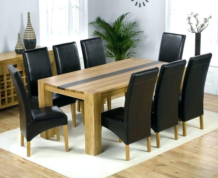 Dining Table And 8 Chairs Set Oak Style 9 Piece 1 Seater Chair Sets Inside Dining Tables And 8 Chairs Sets (Image 13 of 25)