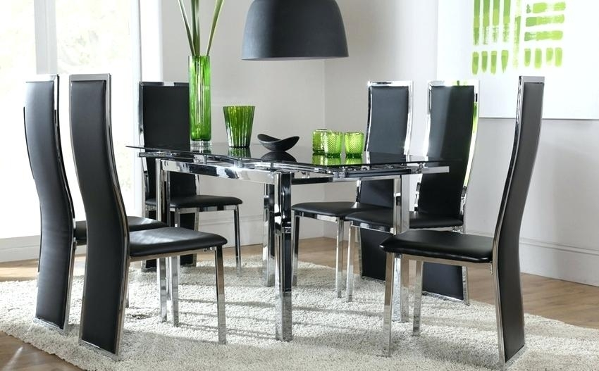Dining Table And Chair Set Walnut Dining Table Chair Set Tables Pertaining To Glass Dining Tables And Chairs (View 14 of 25)