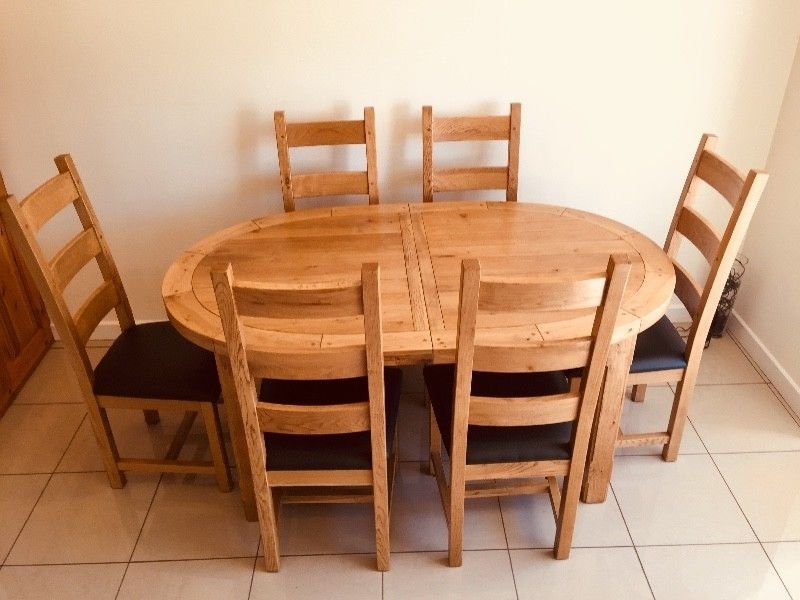 Dining Table And Chairs | Cork | Gumtree Classifieds Ireland | 295912146 Intended For Cork Dining Tables (View 24 of 25)