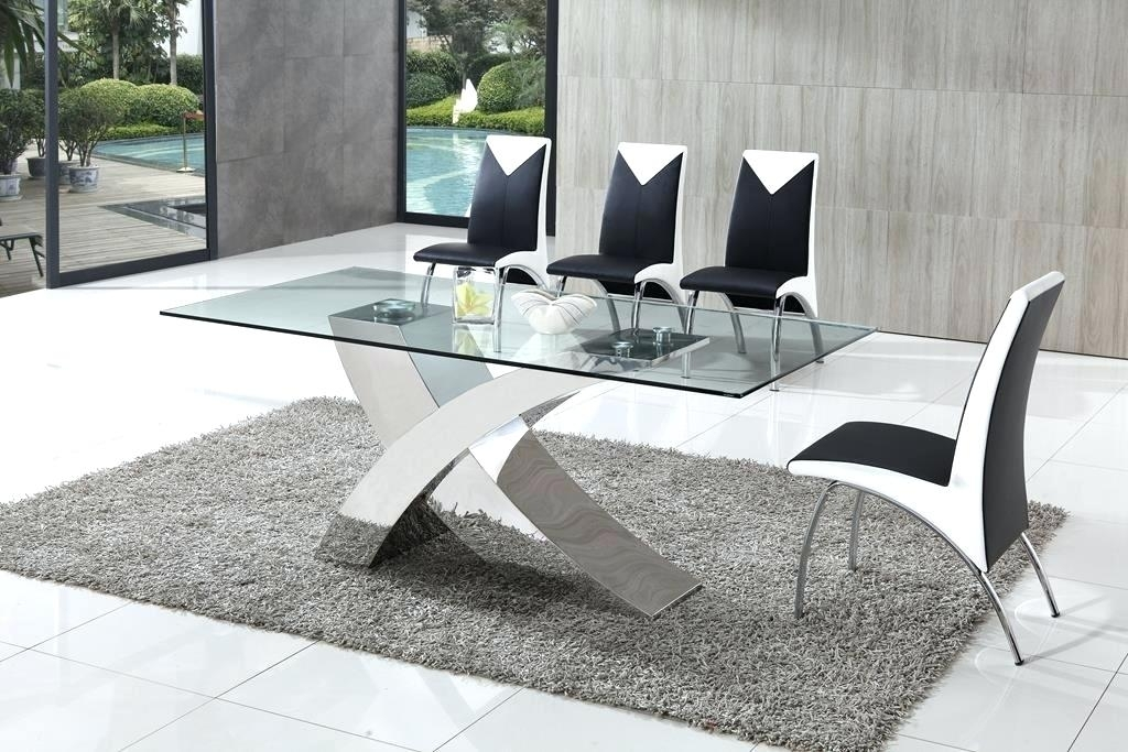Dining Table And Chairs Glass Dining Table Furniture Throughout With Perth Glass Dining Tables (Image 5 of 25)
