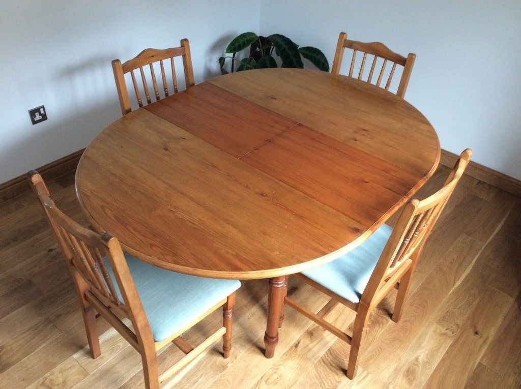 Dining Table And Chairs.pine Wood (Image 9 of 25)