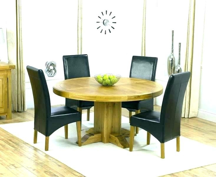 Dining Table And Chairs Round Oak Six Set Of 6 – Christuck With Regard To Wood Dining Tables And 6 Chairs (Image 13 of 25)