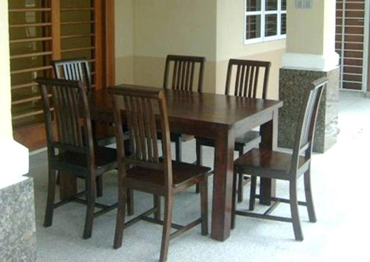 Dining Table And Six Chairs Round Glass For 6 Modern Foter With Ege Inside Dining Tables And Six Chairs (Image 11 of 25)