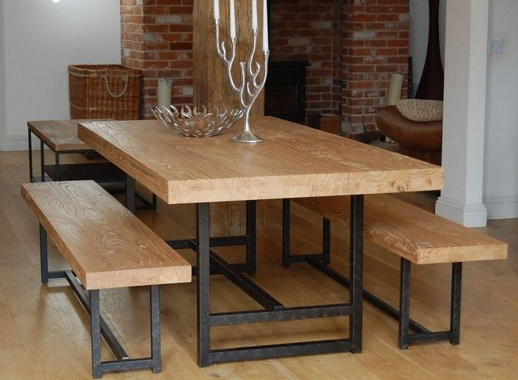 Dining Table Bench Set Rustic Small Tables For Intended Plan 12 In Small Dining Tables And Bench Sets (Image 12 of 25)