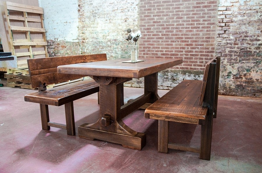 Dining Table Bench With Back (Image 14 of 25)