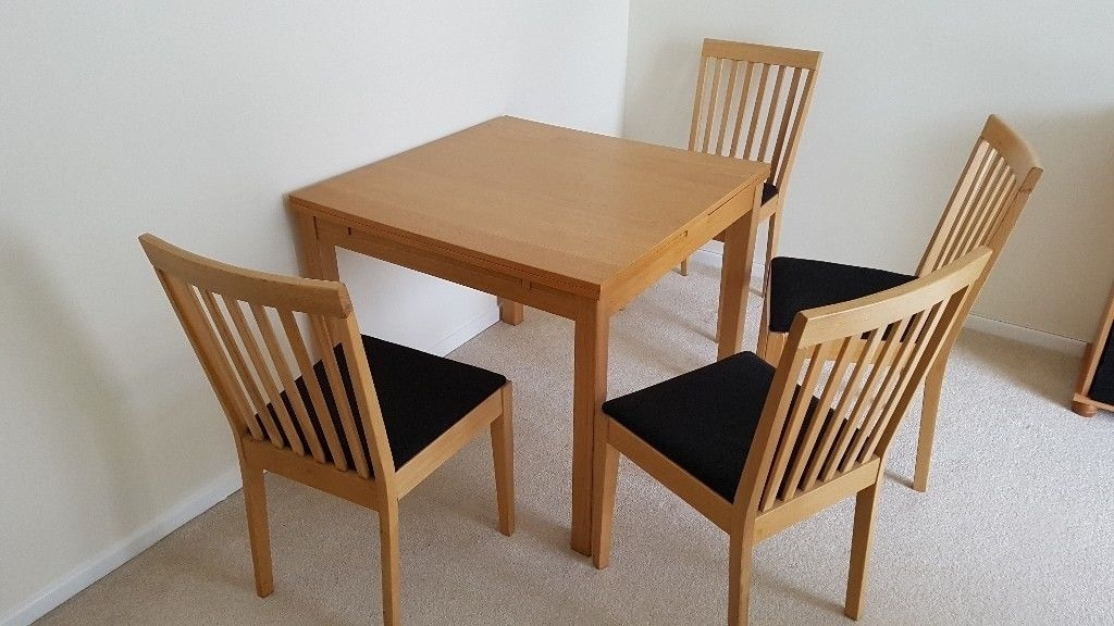 Dining Table Bjursta From Ikea With 4 Chairs | In Saffron Walden In Walden Extension Dining Tables (View 11 of 25)
