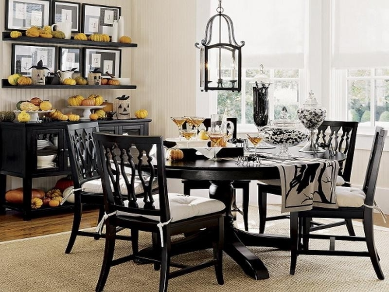 Dining Table Black Set All Nite Graphics — The Home Redesign Pertaining To Black Wood Dining Tables Sets (Image 16 of 25)