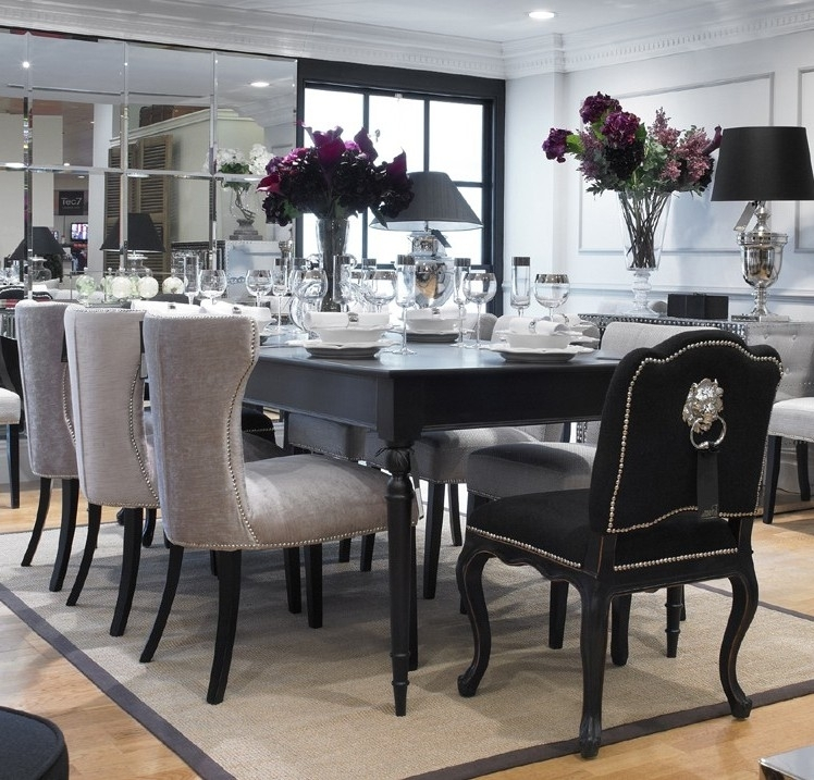 Dining Table Black Set And White — The Home Redesign : Elegant Black Regarding White Dining Tables Sets (Image 12 of 25)
