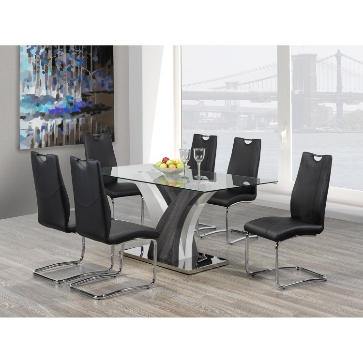 Dining Table | Brassex F 790 | Lastman's Bad Boy With Regard To Grey Glass Dining Tables (Image 8 of 25)