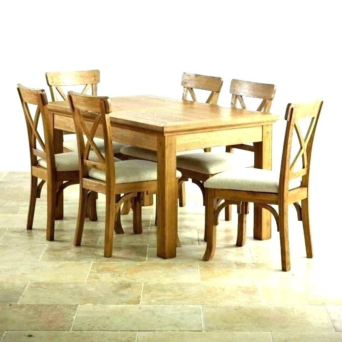 Dining Table Chairs Set Dining Table Chair Set Solid Oak Dining Room Intended For Oak Dining Tables Sets (Image 3 of 25)