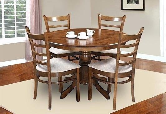 Dining Table Chairs Vita 4 Dining Set With Cushioned Chairs Dining Intended For Dining Room Chairs Only (Image 14 of 25)