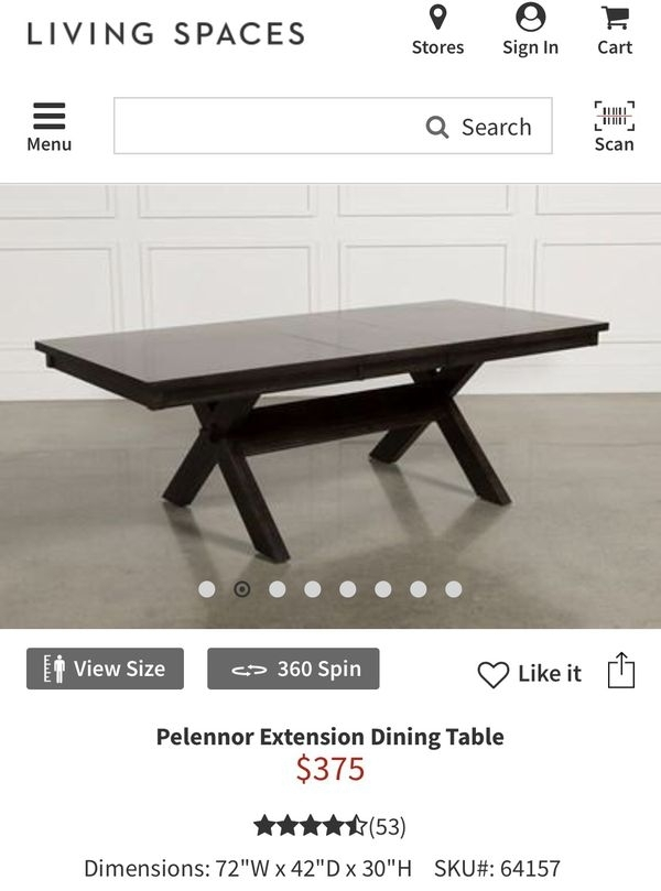 Dining Table From Living Spaces For Sale In Paramount, Ca – Offerup Within Pelennor Extension Dining Tables (Image 11 of 25)