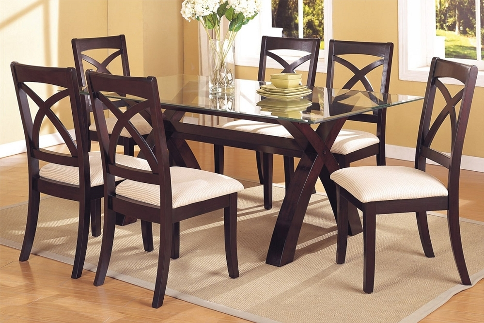 Dining Table: Glass Dining Table Sets 6, Best Dining Table Set In Glass Dining Tables 6 Chairs (View 9 of 25)