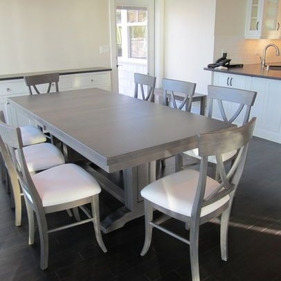 Dining Table In Maple With Driftwood Grey Stain   Kitchen / Table Inside Grey Dining Tables (Image 5 of 25)