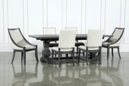 Dining Table Living Spaces Sets Chairs – Roblonardo (View 22 of 25)