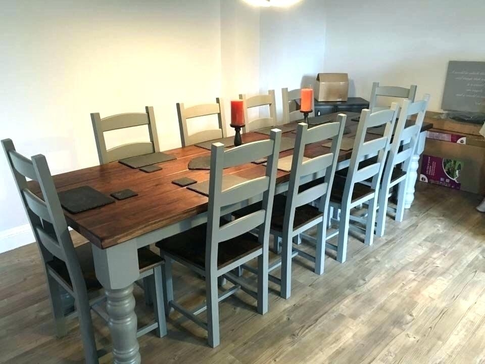 Dining Table Made Of In 10 Seater New Zealand – Ugears With Regard To 10 Seater Dining Tables And Chairs (Image 18 of 25)