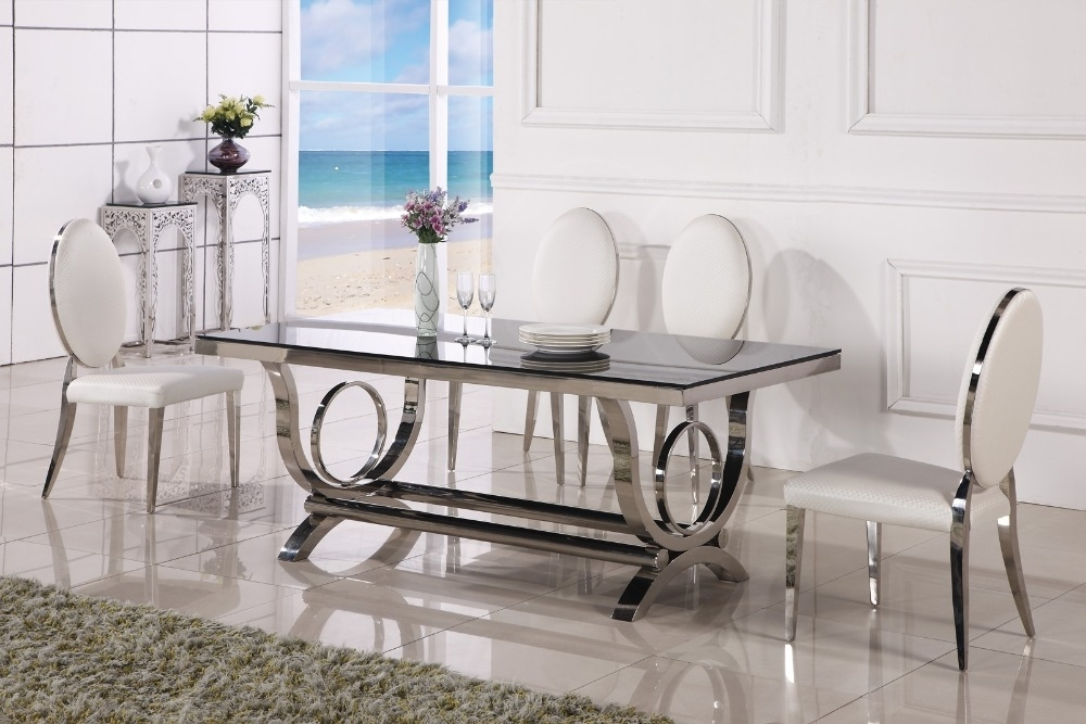 Dining Table Marble And Chair Cheap Modern Dining Tables 6 Chairs In Within Glass Dining Tables With 6 Chairs (Image 10 of 25)
