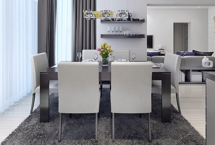 Dining Table Materials | Atlantic Shopping Inside Brushed Steel Dining Tables (Image 9 of 25)