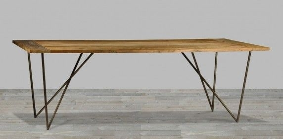 Dining Table Metal Legs | H O M E \ S H O P | Pinterest | Table In Iron And Wood Dining Tables (View 16 of 25)