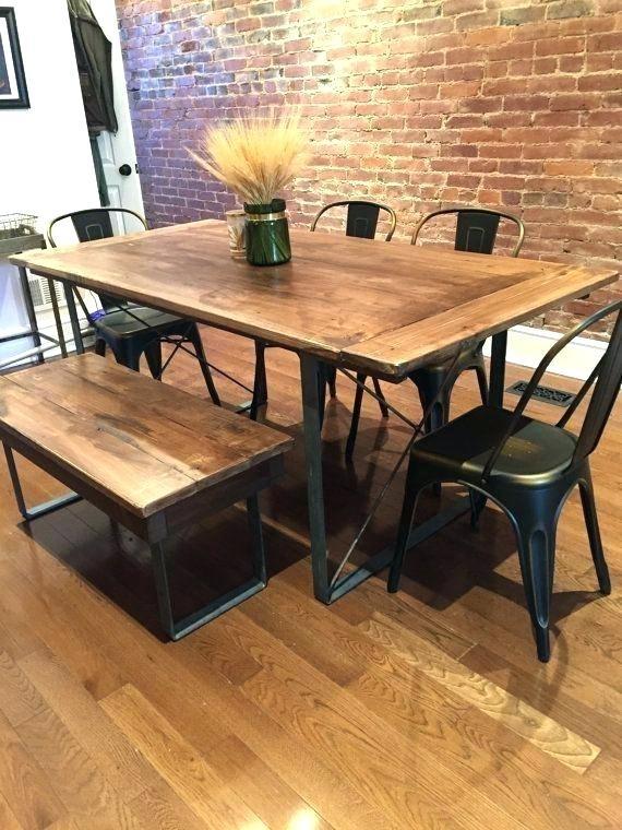 Dining Table Metal Legs – Kuchniauani Pertaining To Dining Tables With Metal Legs Wood Top (View 23 of 25)