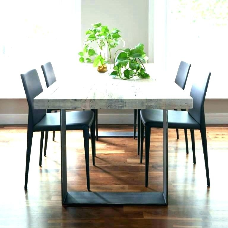 Dining Table Metal Legs Tables Ideas Wooden – Fondodepantalla Regarding Dining Tables With Metal Legs Wood Top (View 17 of 25)