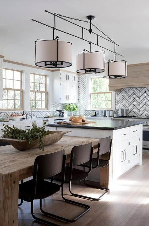 Dining Table Next To Kitchen Island Design Ideas With Regard To Next White Dining Tables (View 12 of 25)