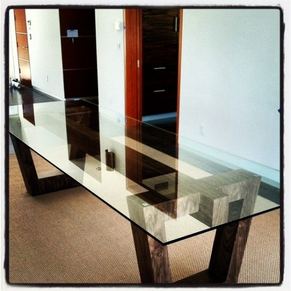 Dining Table Pedestal Base Only Dining Table Bases For Glass Tops Within Wooden Glass Dining Tables (Image 6 of 25)