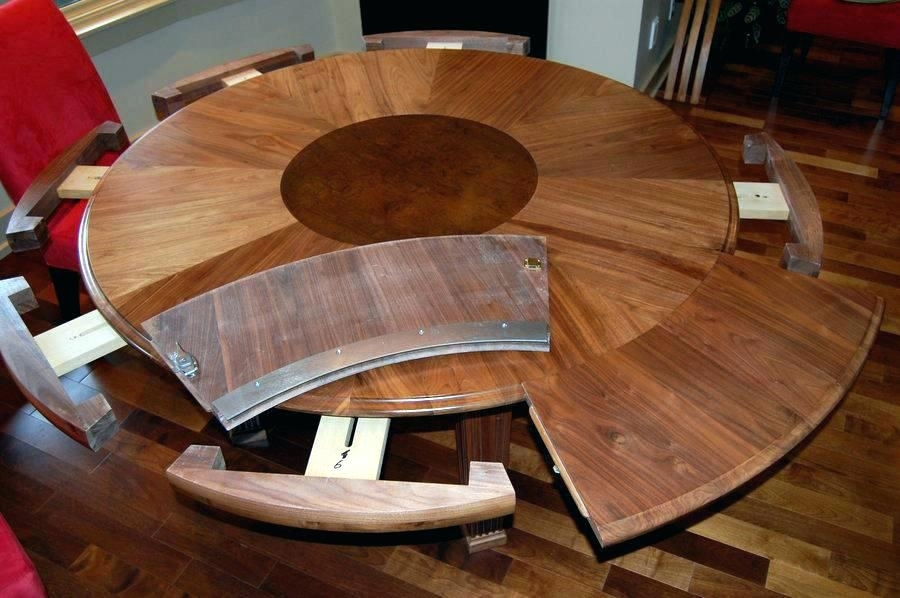 Dining Table Round Extendable Expandable Dining Room Tables For inside Small Square Extending Dining Tables