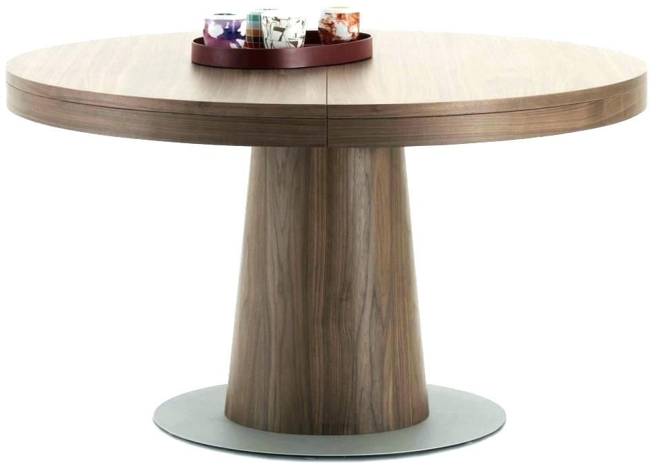 Dining Table Round Extendable Small Round Extending Dining Table In Extendable Round Dining Tables (Image 8 of 25)