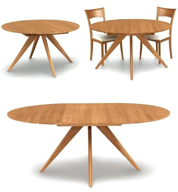 Dining Table Round Extendable Small Round Extending Dining Table With Regard To Small Round Extending Dining Tables (Image 6 of 25)