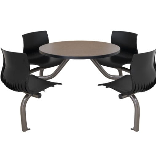 Dining Table / Round / With Attached Chair – Cora – Erg International With Regard To Cora Dining Tables (Image 15 of 25)