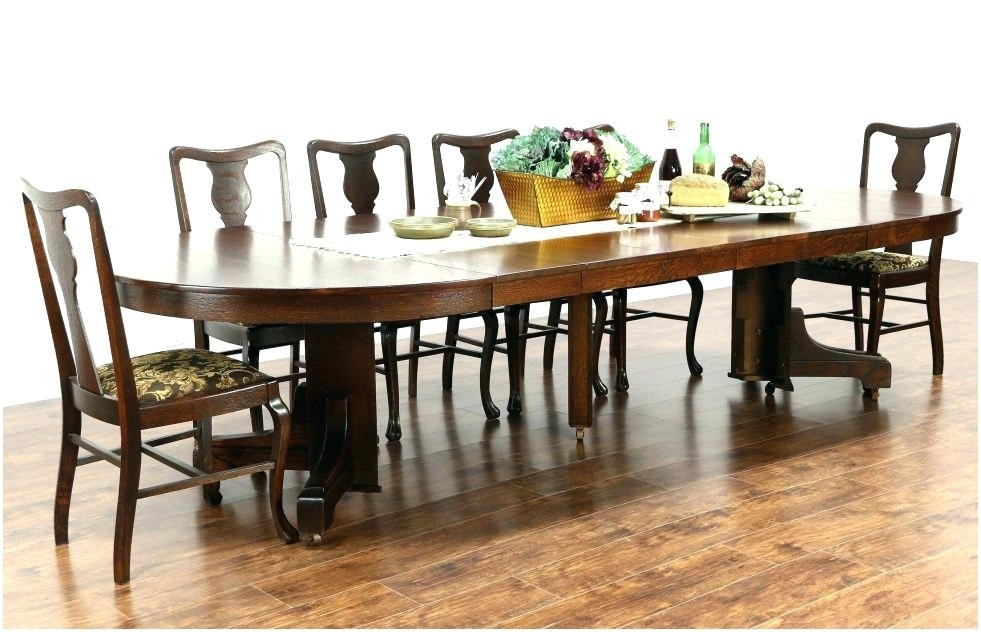 Dining Table Sears Round Dining Table Sets Room Mission Kitchen Throughout Craftsman Round Dining Tables (Image 16 of 25)
