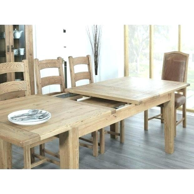 Dining Table Seats 14 Farmhouse Rustic Oak Large Extending Dining With Regard To Extending Dining Tables With 14 Seats (Image 10 of 25)