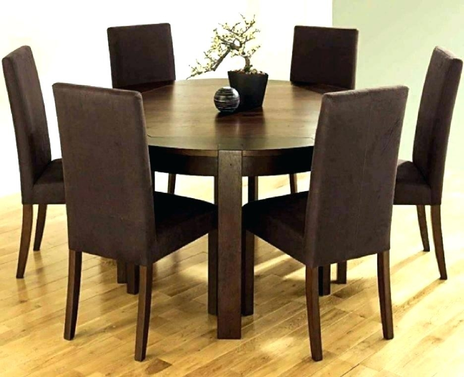 25 Photos Round 6 Seater Dining Tables
