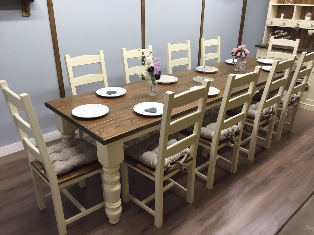 Dining Table Set For 10 – Castrophotos Inside Dining Table And 10 Chairs (Image 17 of 25)