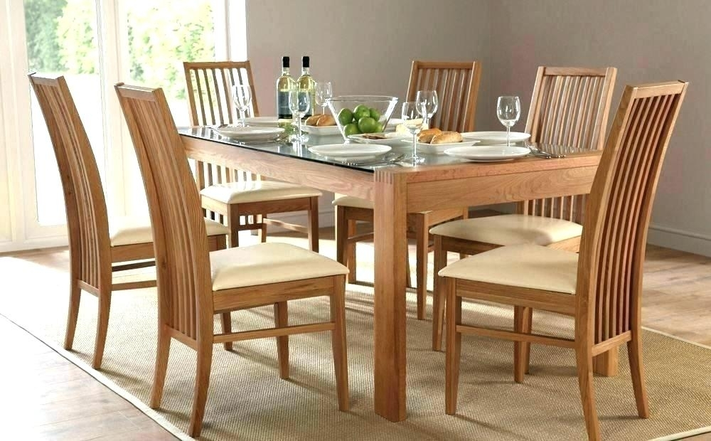 Dining Table Set For 6 Dining Table Set 6 – Insynctickets In Glass Dining Tables With 6 Chairs (Image 11 of 25)