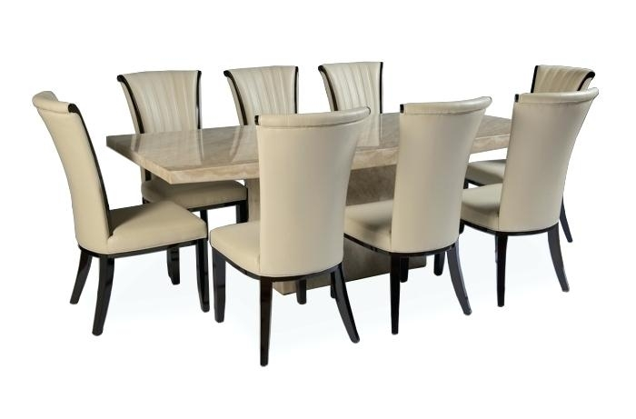 Featured Photo of Dining Tables 8 Chairs Set