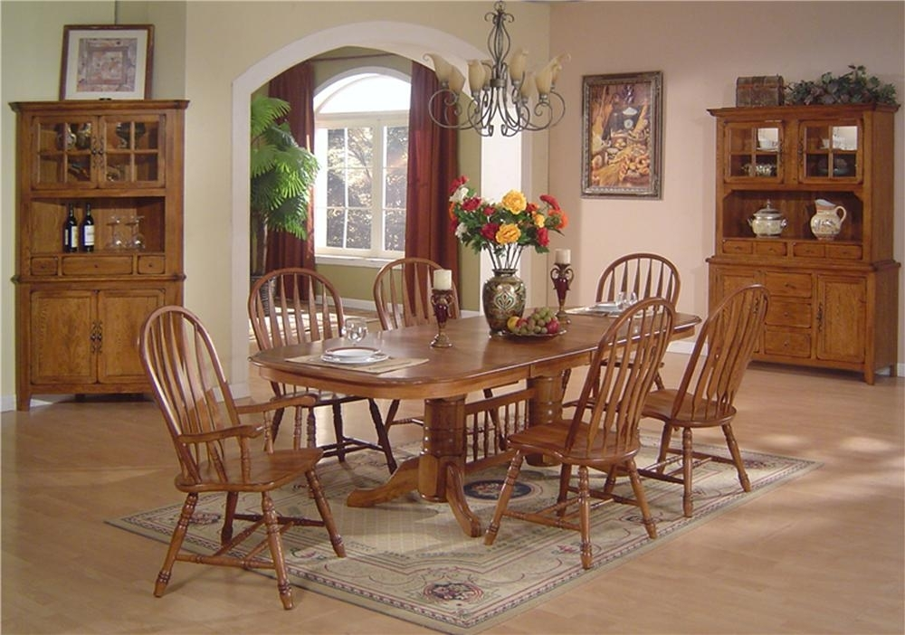 Dining Table Set Oak – Castrophotos Pertaining To Oak Dining Tables Sets (Image 4 of 25)