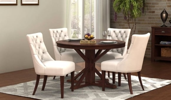 Dining Table Sets: Buy Wooden Dining Table Set Online @ Low Price Inside Cheap Dining Room Chairs (View 13 of 25)
