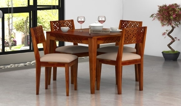 Dining Table Sets: Buy Wooden Dining Table Set Online @ Low Price Regarding 4 Seat Dining Tables (Image 16 of 25)