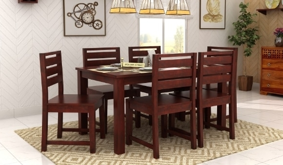 Dining Table Sets: Buy Wooden Dining Table Set Online @ Low Price With 6 Seat Dining Tables (View 20 of 25)
