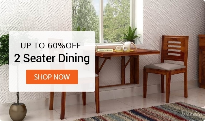Dining Table Sets: Buy Wooden Dining Table Set Online @ Low Price With Two Seat Dining Tables (Photo 20 of 25)