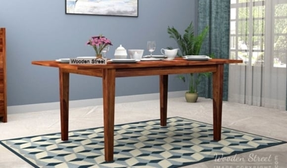 Dining Table Sets: Buy Wooden Dining Table Set Online @ Low Price Within Buy Dining Tables (Image 16 of 25)
