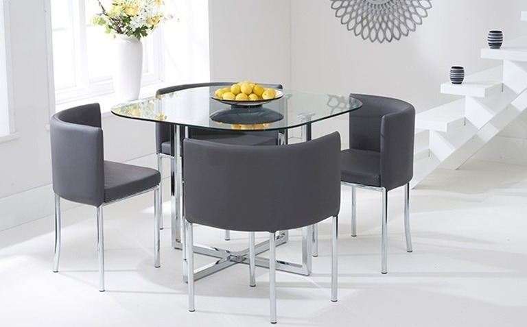 Dining Table Sets | The Great Furniture Trading Company Throughout White Glass Dining Tables And Chairs (Image 13 of 25)