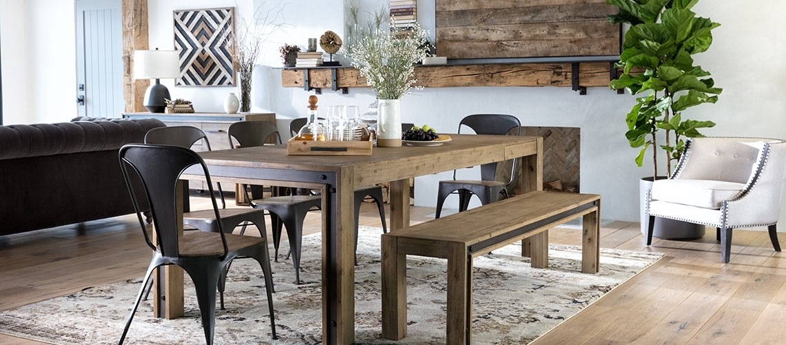 Dining Table Size Guide | Living Spaces Regarding Helms Round Dining Tables (View 2 of 25)