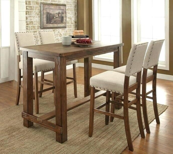 Dining Table Stools Dining Table Dining Bar Table Set – Savagisms In Dining Tables With Attached Stools (View 19 of 25)