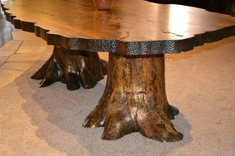 Dining Table Tree Stump Dining Table For Sale Uk Trunk Unique Table Pertaining To Tree Dining Tables (Image 8 of 25)