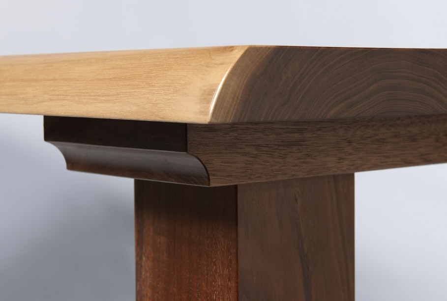 "Dining Table ""Wayne Edge Walnut – Gavin Robertson Furniture With Regard To Gavin Dining Tables (View 19 of 25)"