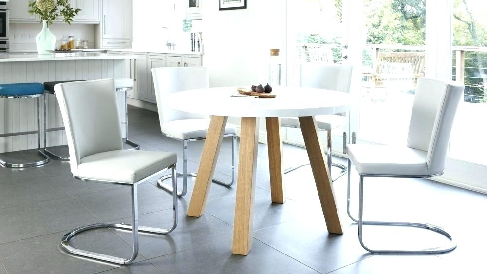 Dining Table White Gloss Modern 4 Dining Table White Gloss Dining With Round High Gloss Dining Tables (Image 11 of 25)